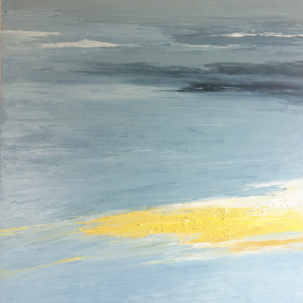 At The Horizon - archipelago, oil on canvas, 42 by 42 inches, 2012, $5000