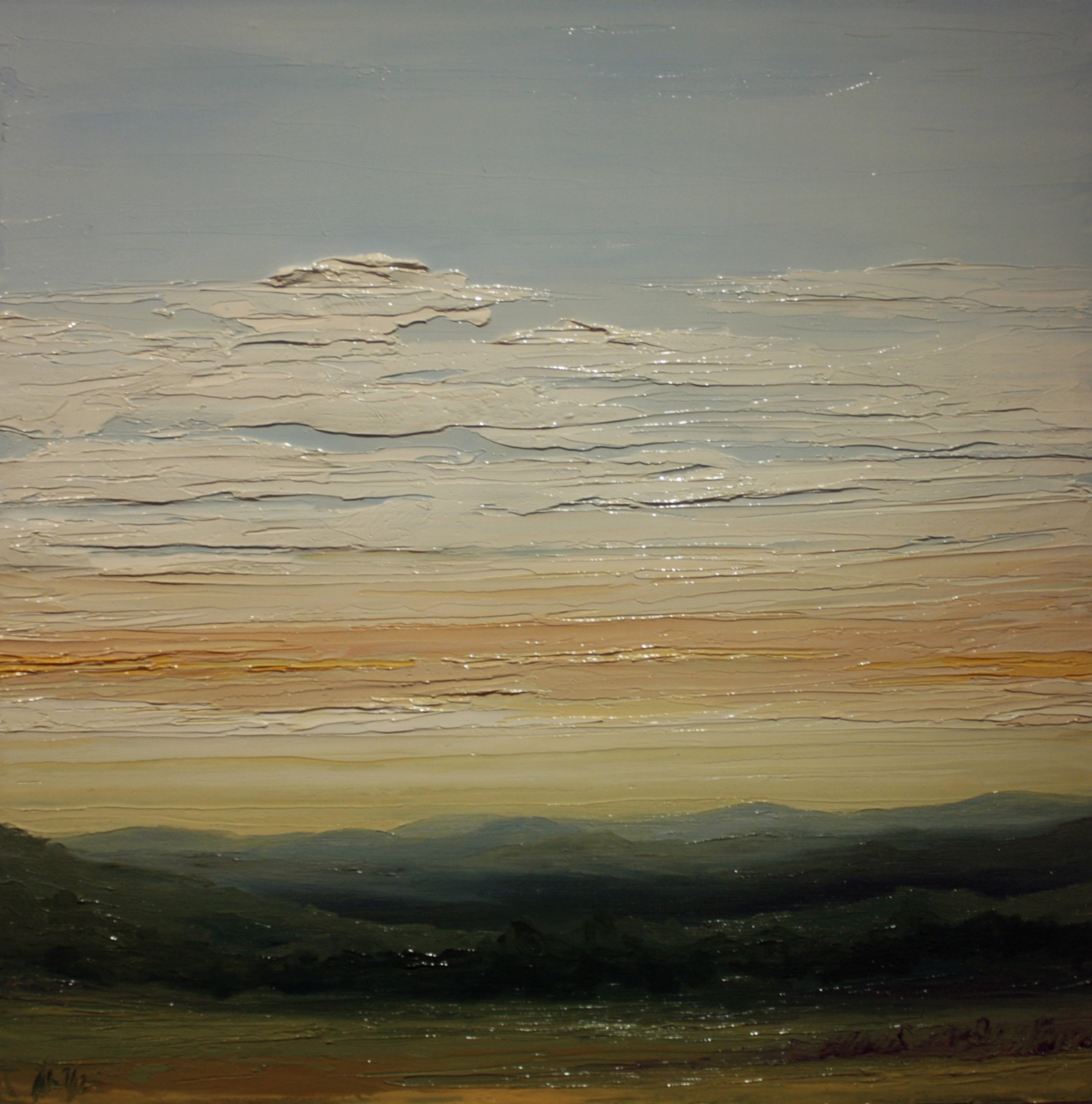 Stikeleather View Sunapee NH, oil on canvas, 24 by 24 inches, 2012