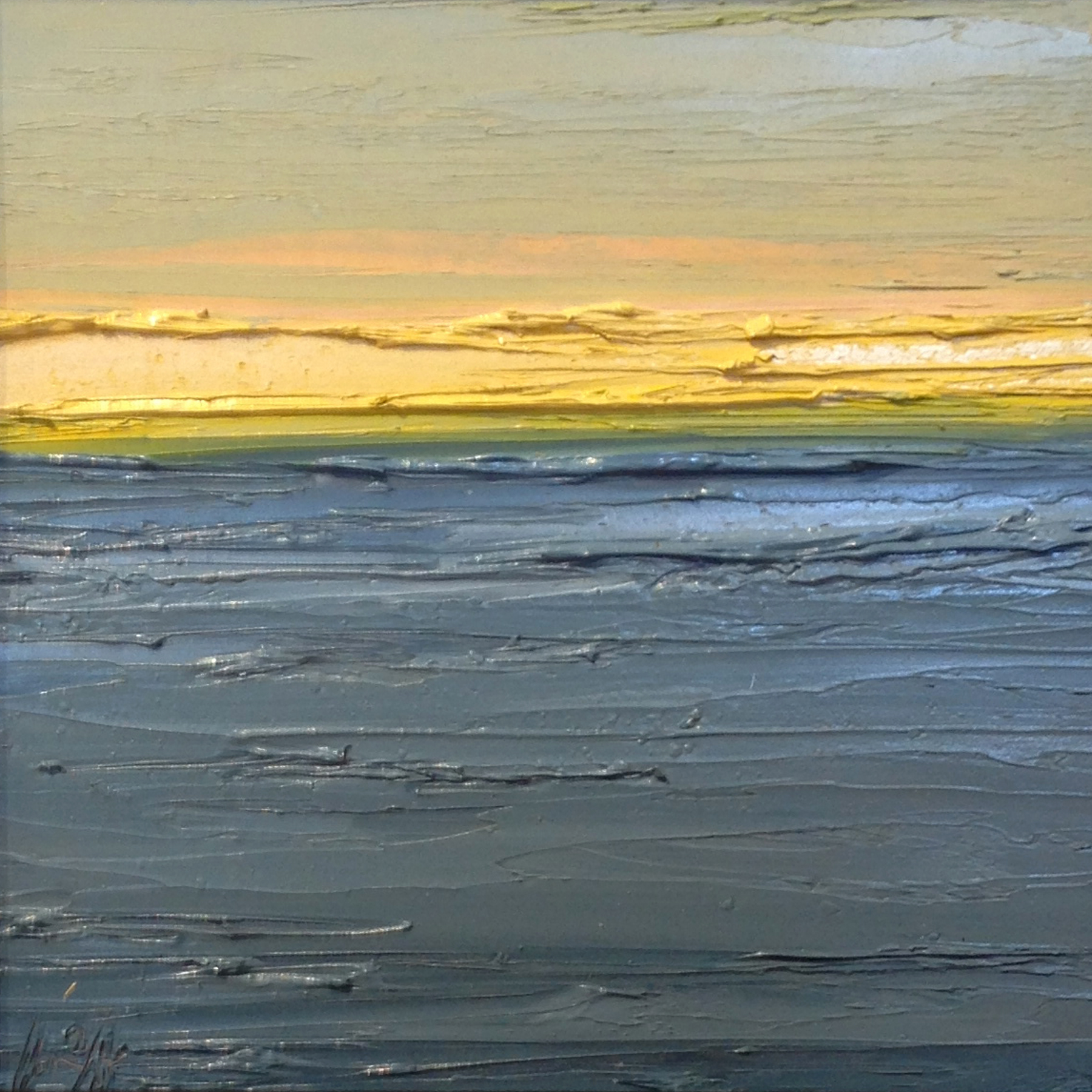At The Horizon Study 3-13-2014, oil on board, 8 by 8 inches, 2014 - $750