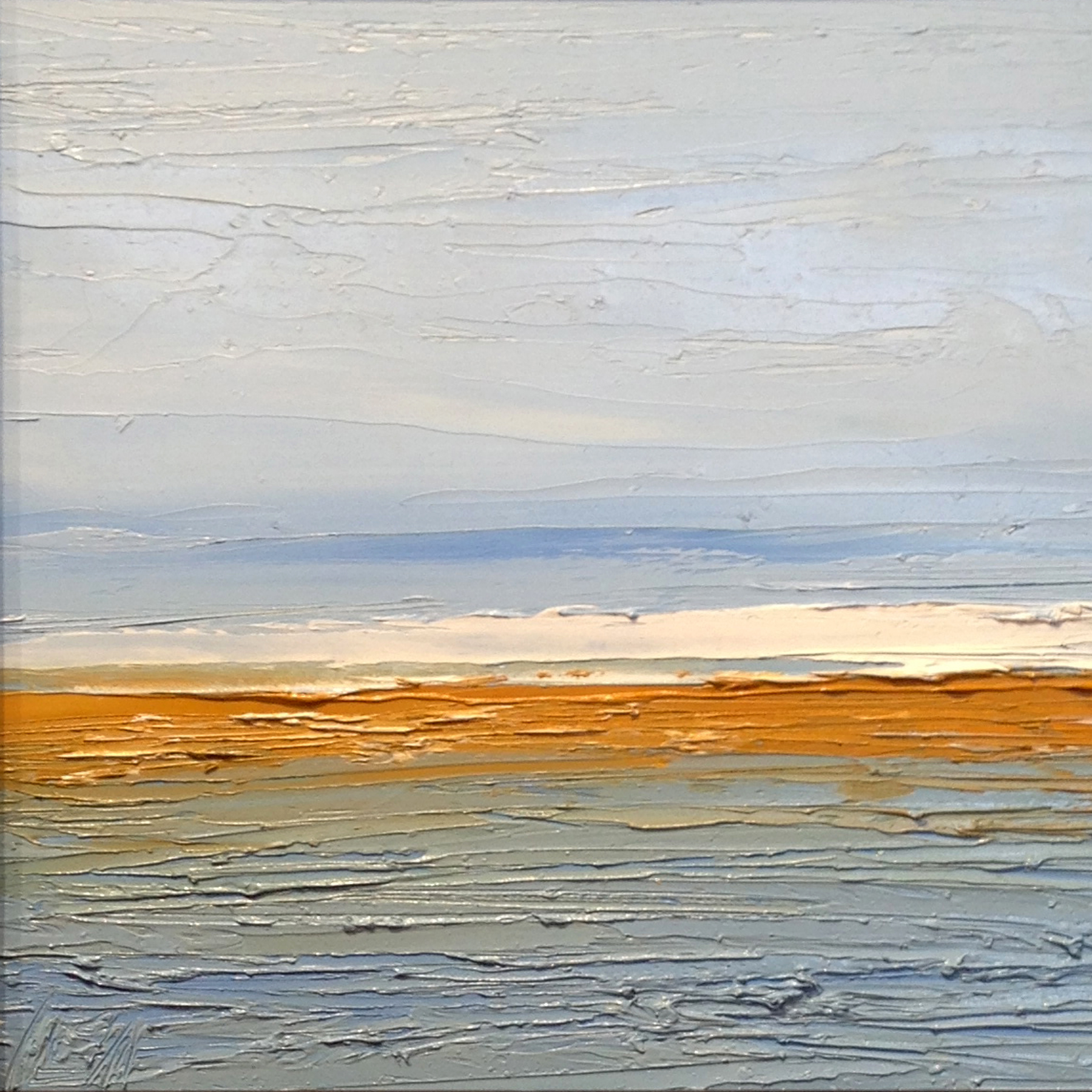 At The Horizon Study 3-12-2014, oil on board, 8 by 8 inches, 2014 - $750