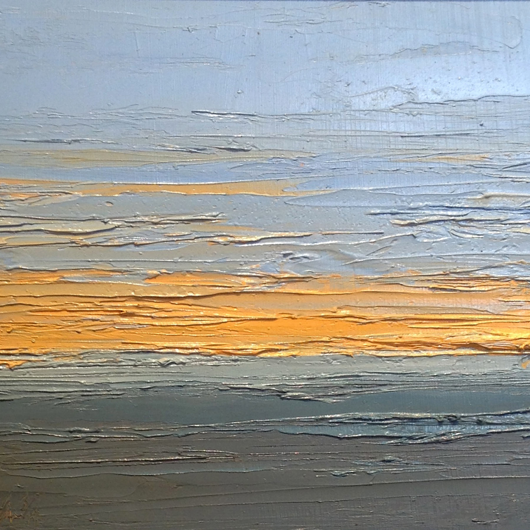 At The Horizon Study 3-5-2014, oil on board, 8 by 8 inches, 2014 - $750