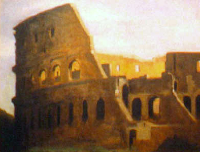 Colisium, Rome, Italy, oil on board, 11 by 14 inches, 1993.jpg