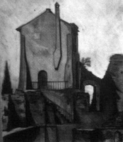 In The Ruins, Rome, Italy, charcoal on paper, 16 by 20 inches, 1993.jpg