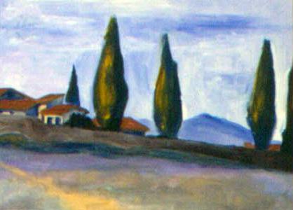 At Arles, Van Gogh's Asylum, oil on board, 11 by 14 inches, 1997.jpg