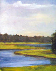 Cohasset Marsh, Cohassett, MA, oil on board, 11 by 14 inches, 2001.jpg