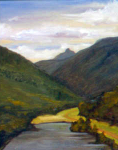Artist's Bluff, Cannon Mountain, NH, oil on board, 11 by 14 inches, 2001.jpg