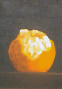 Sonoma Orange, oil on board, 6 by 9 inches, 1996.jpg