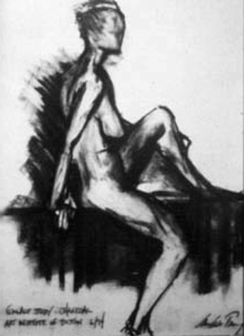 Female Nude Study. charcoal on paper. 18x24-inches. 1994.jpg