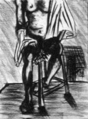 Draped Nude. charcoal on paper. 18x24-inches. 1987.jpg