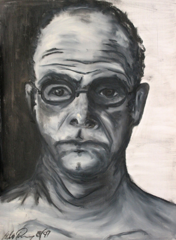 Torney. Self-Portait - I am my father. oil-bar on paper. 22x30-inches. 1997.jpg