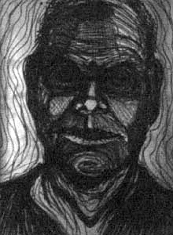 Torney. Self-Portrait as Teacher. charcoal on paper. 18x24-inches. 1997.jpg