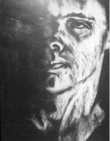 Torney. College Self-Portrait. charcoal on paper. 22x30-inches. 1985.jpg