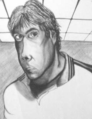Torney. High School Self-Portrait. charcoal on paper, 18x24-inches, 1981.jpg