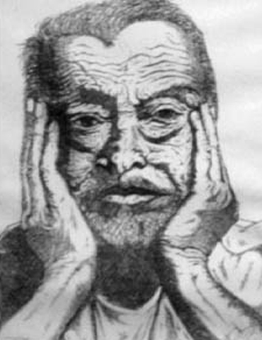 Old Man, etching 5-12, 11 by 14 inches, 1983.jpg