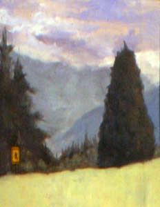 Go Children Slow, Bennington, VT, oil on canvas, 16 by 20 inches, 2000.jpg