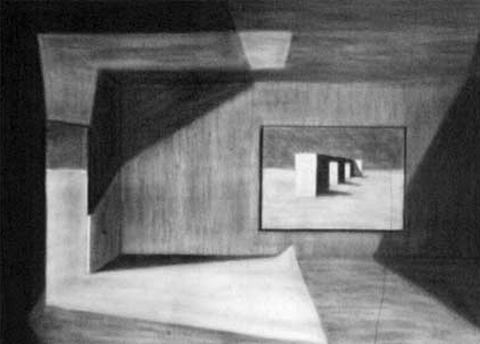 Interior Imagined 2. charcoal on paper. 24x36-inches. 1989.jpg