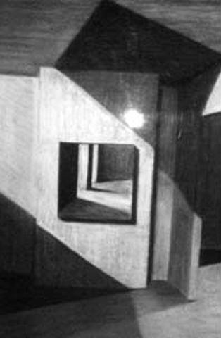 Imagined Interior 1. charcoal on paper. 24x36-inches. 1989.jpg