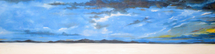 Snowscape, oil on canvas, 12 by 40 inches, 2006 - $2000 (sold)
