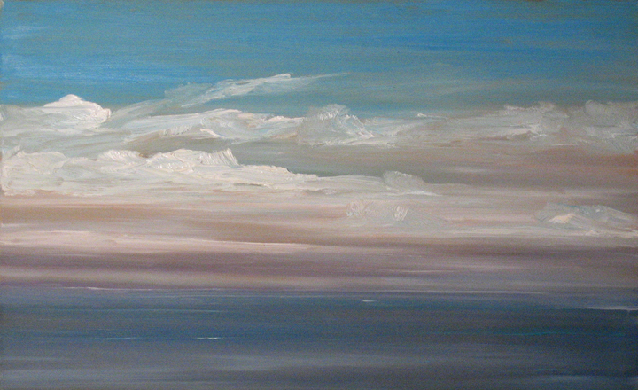 Newcastle Sky, oil on board, 11 by 18 inches, 2006 - $1000 (sold)