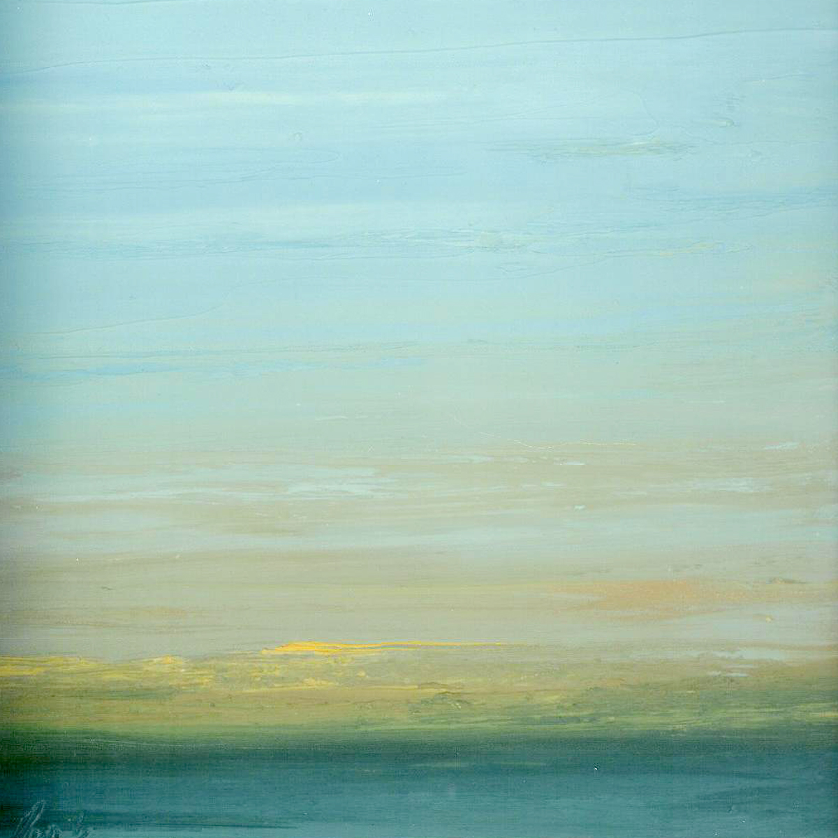 At The Horizon Study 1-3-11, oil-on-board, 8 by 8 inches, 2011 - $750