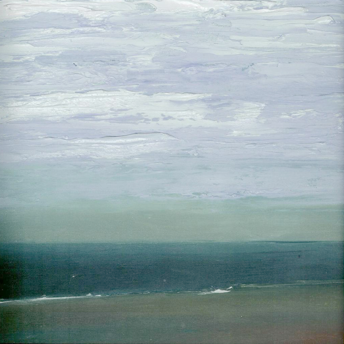 At The Horizon Study 6-17-10, oil-on-board, 8 by 8 inches, 2010 - $750 (sold)