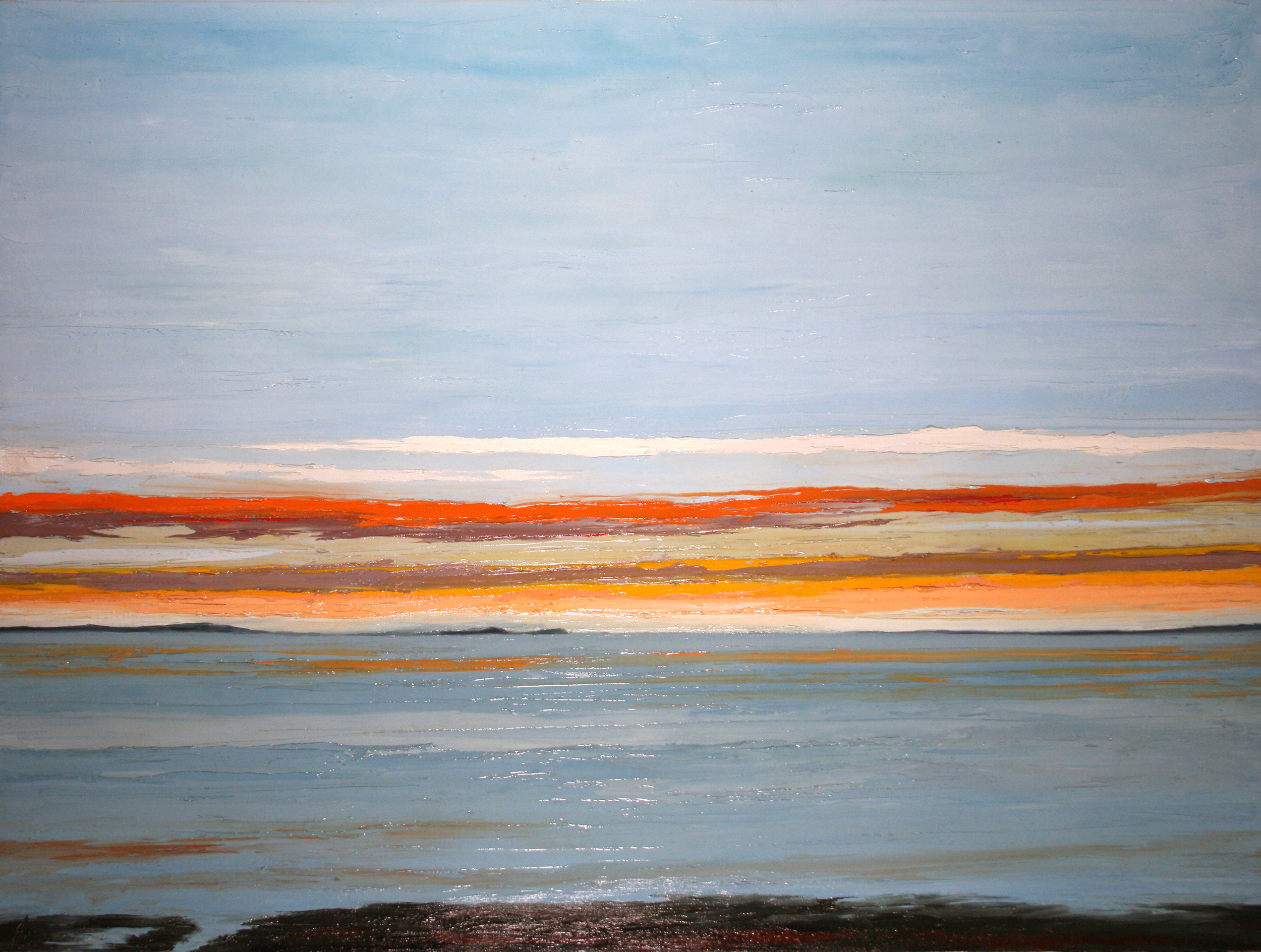 At The Horizon - Cuhna View Plymouth MA, oil on canvas, 36 by 48 inches, 2014 (commission/sold)