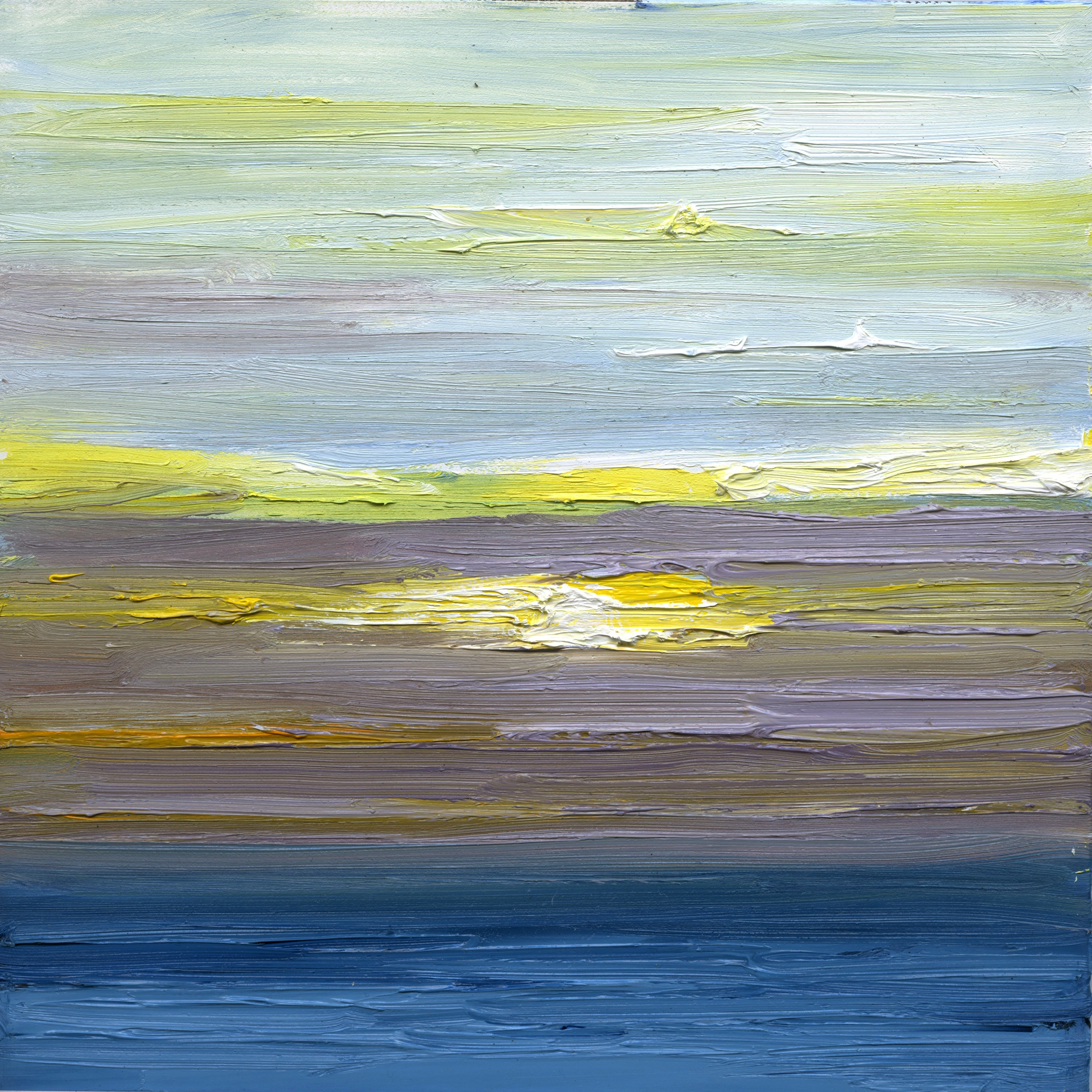 At The Horizon Wellfleet Study, oil on canvas, 8 by 8 inches, 2015, $750