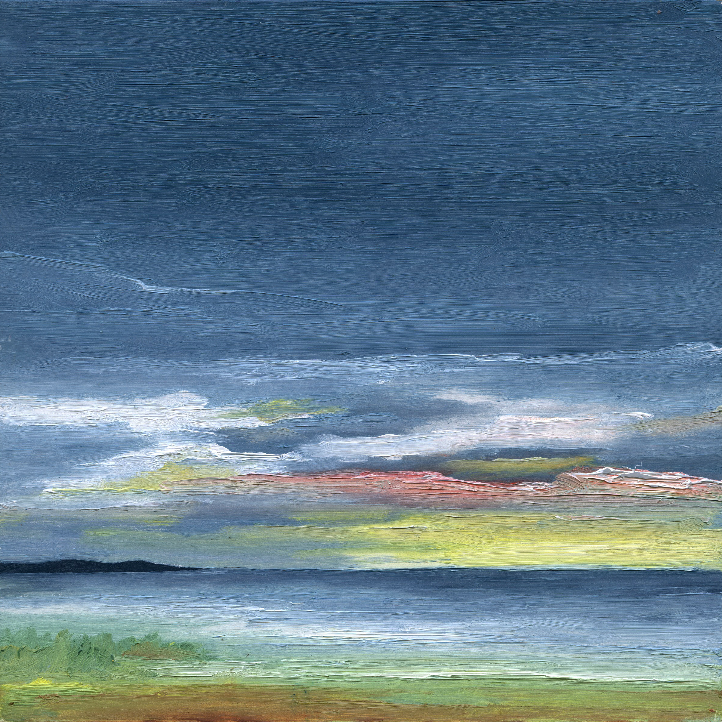 At The Horizon - Jack's View Cape Cod, oil on board, 8 by 8 inches, 2015, $1000