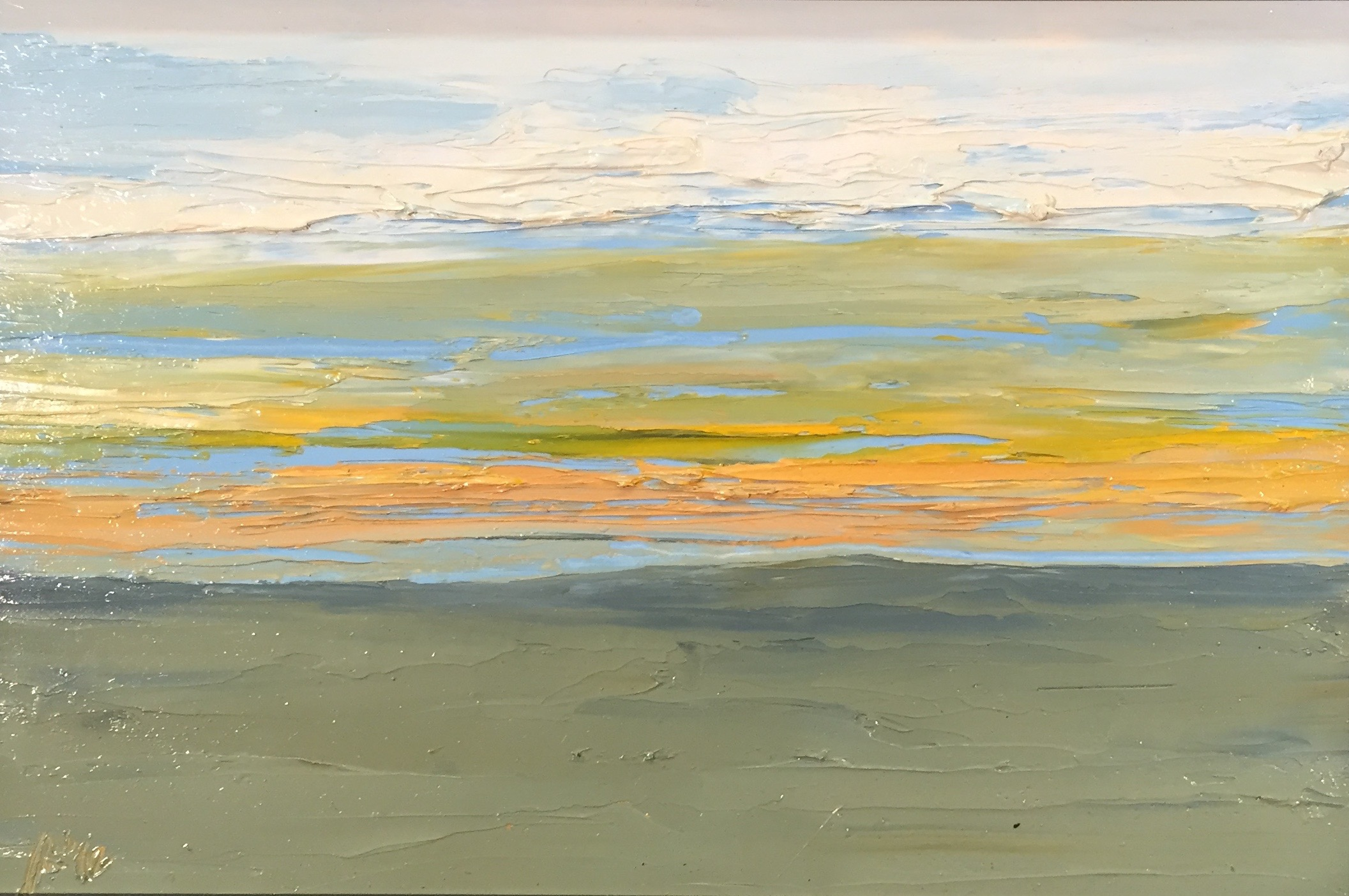 View From Mt. Kearsarge, oil on board, 10.5 by 16 inches, 2012, $1200