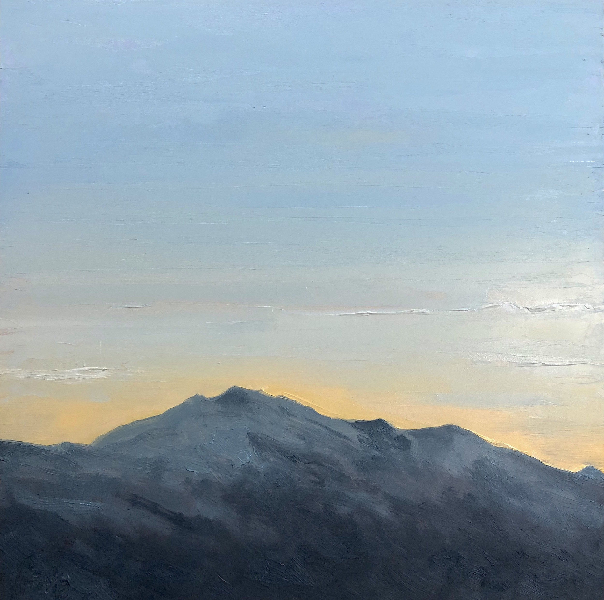 Mt. Washington 7-6-2018, from the 36 Views of Mt. Washington series, oil on board, 12 by 12 inches, 2018, $1000