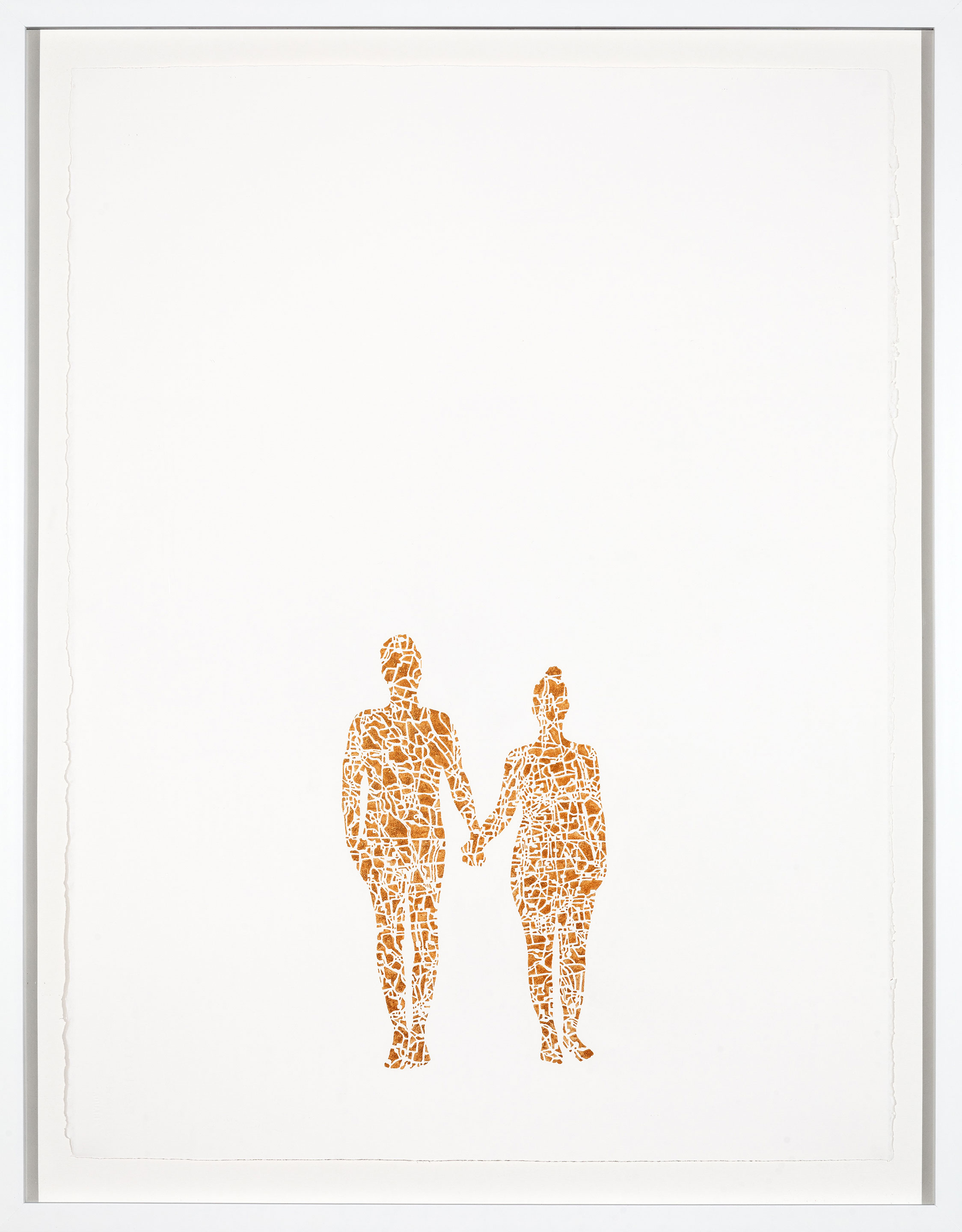 If I paint us (in gold) III, 30x22 in, gouache on paper, 2017
