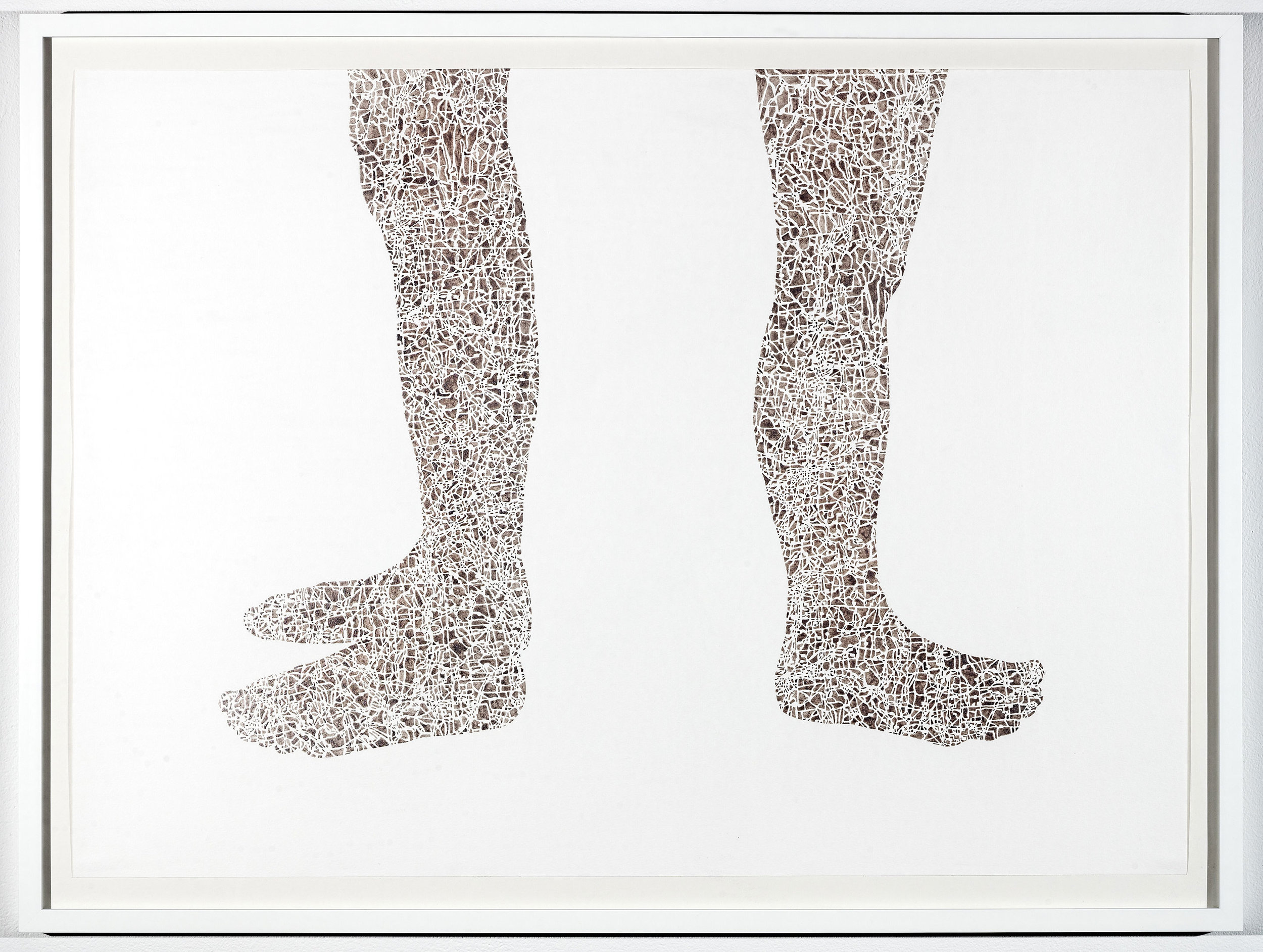 If I paint us (in platinum) II, 32.5x43.25 in, gouache on paper, 2017