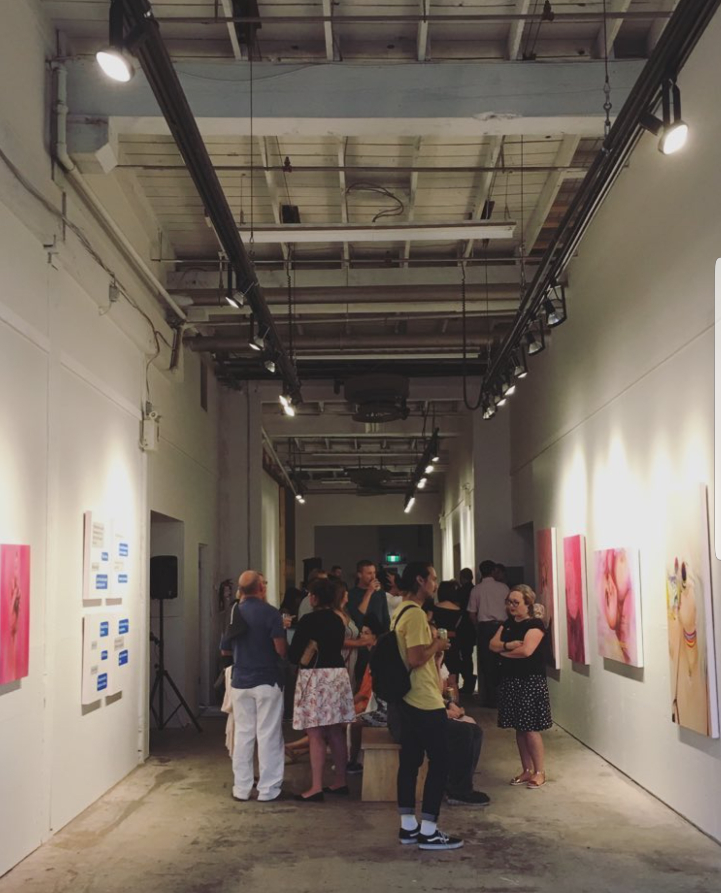 Photo of opening, taken by Heather I.