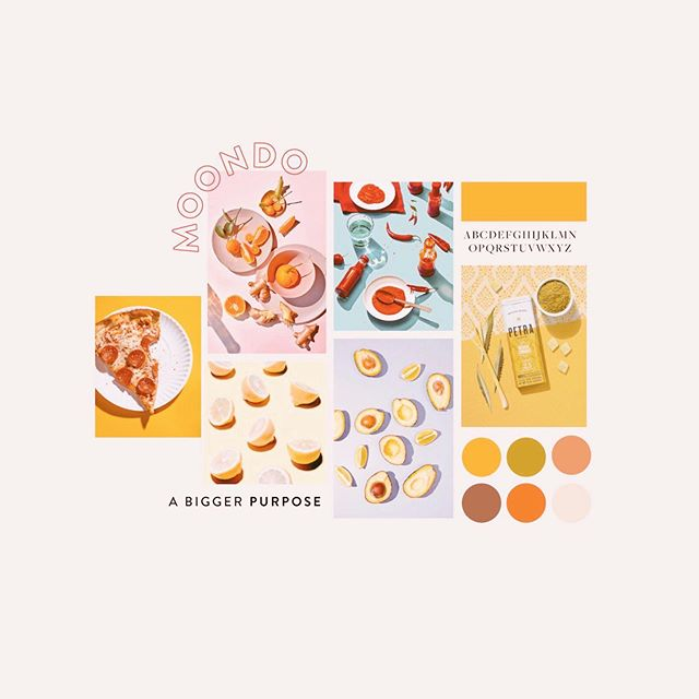 Continuing some brand exploration for a lovely client☀️Bright colors & bold product imagery. 🌈