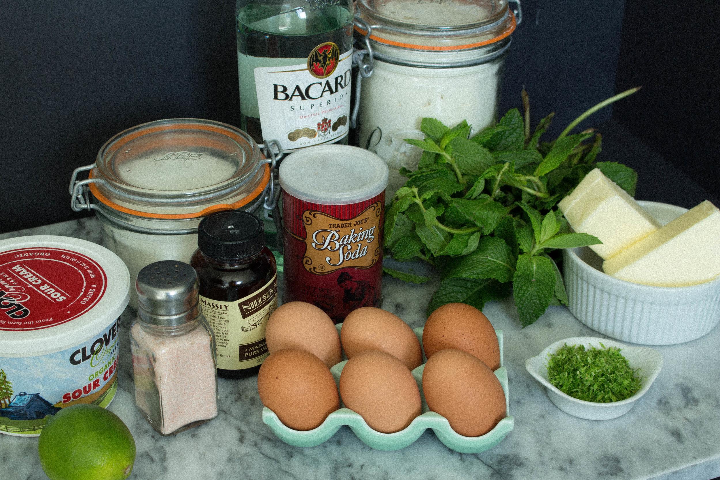 Mojito cake ingredients