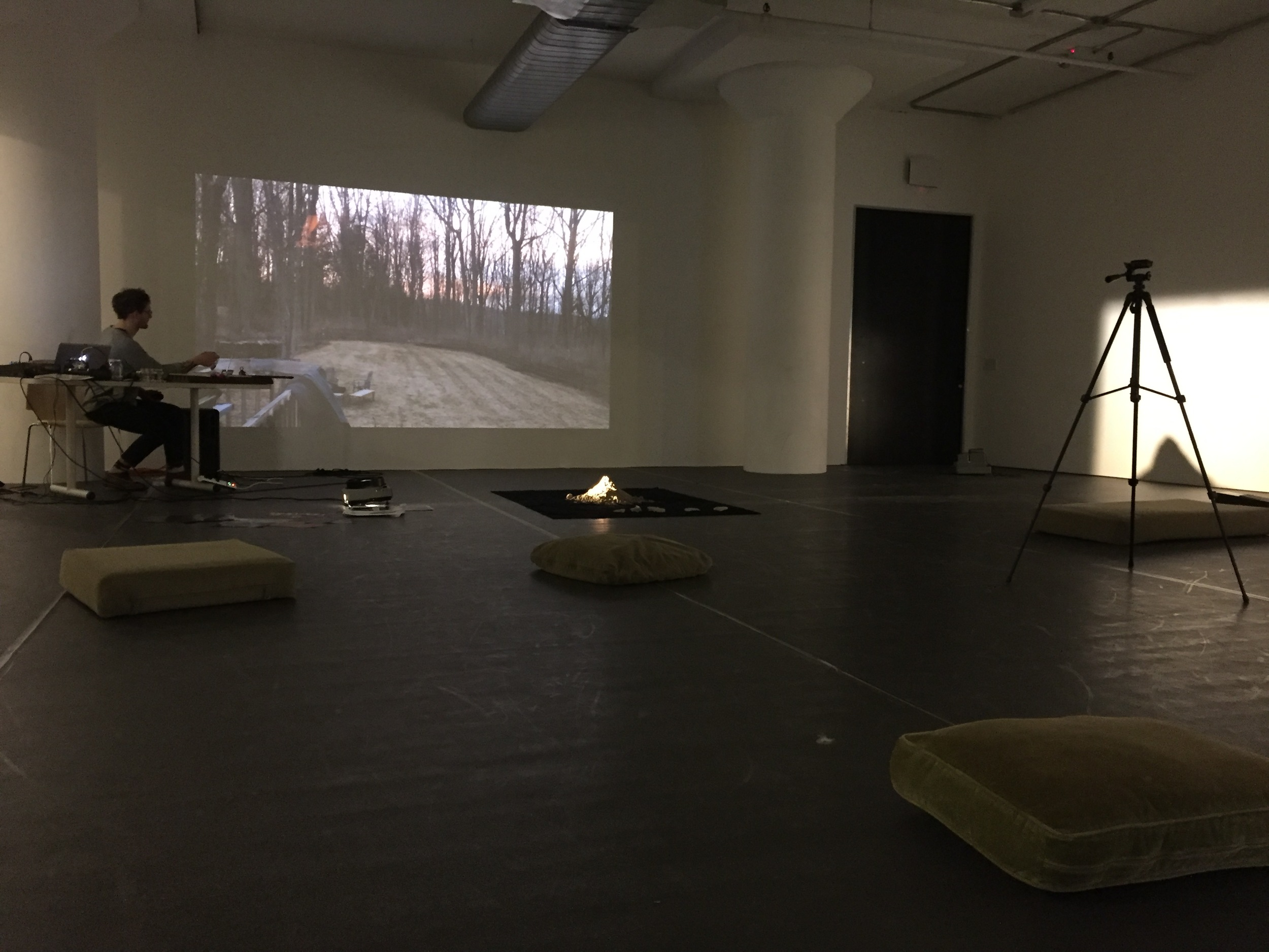 Ryan Packard performing  II. resonant titles on light / seascapes   too colors tones resonances / use of particulars Maine