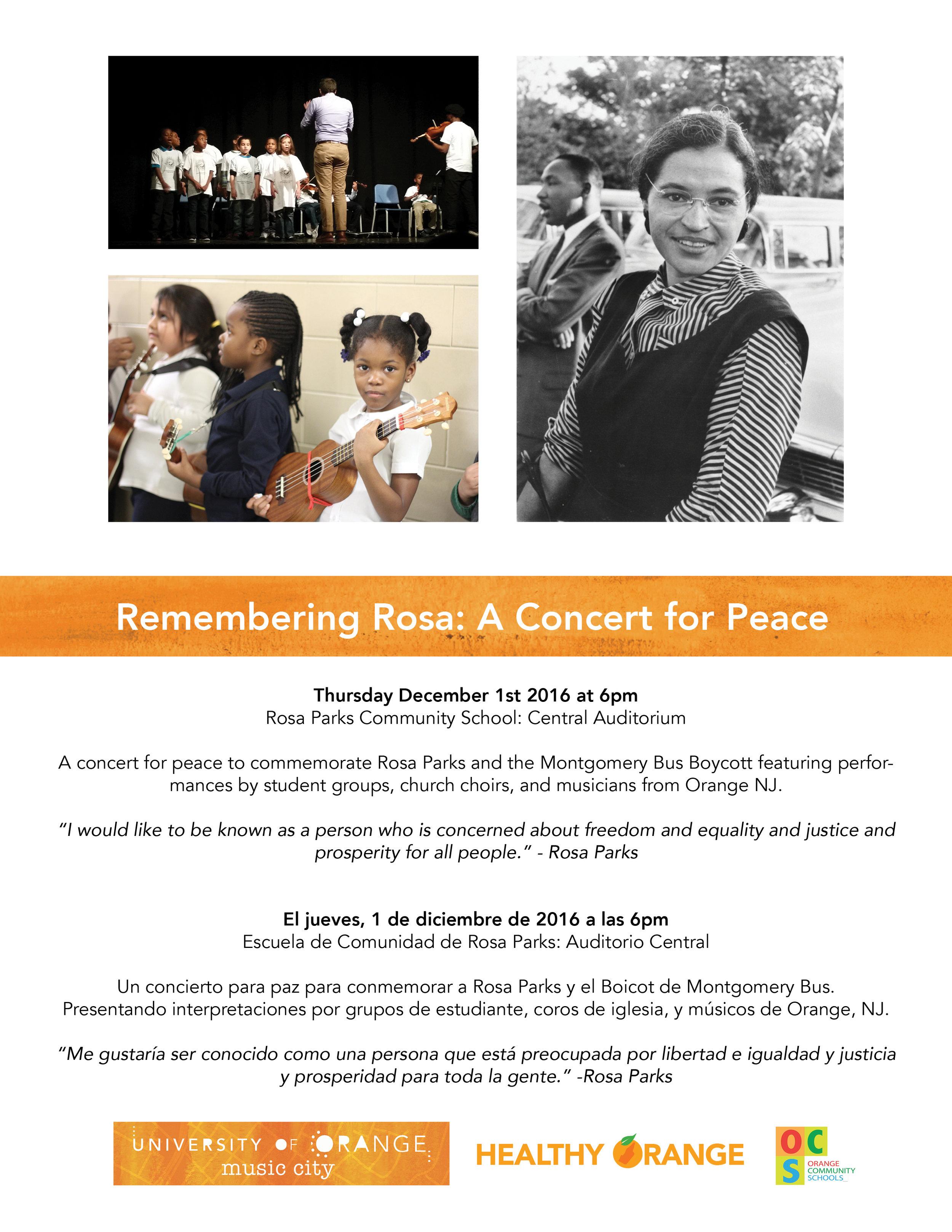 Remembering Rosa flyer
