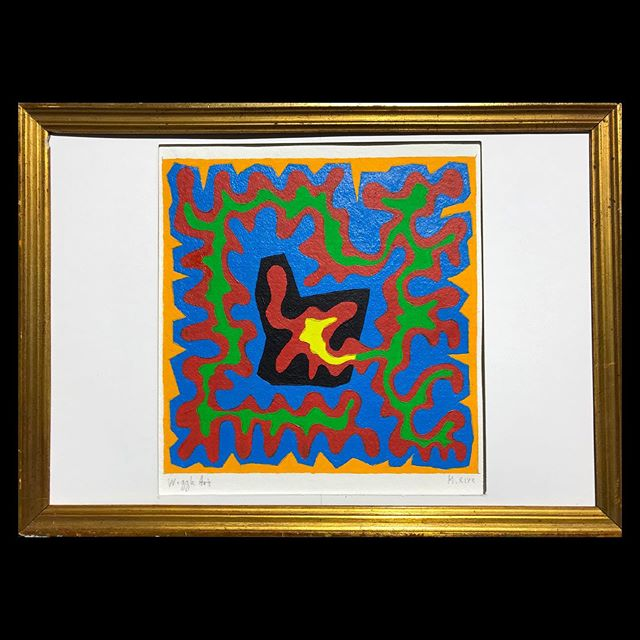 #upcycling #old #golden #frame for my #abstractart on #paper from #moulinricharddebas