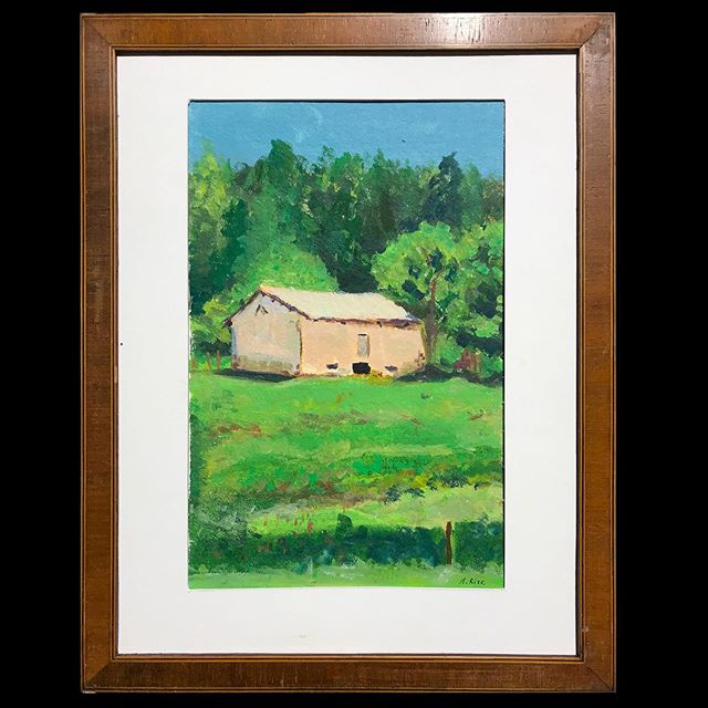 #upcycled #frame with #pleinairpainting on #paper from #moulinricharddebas