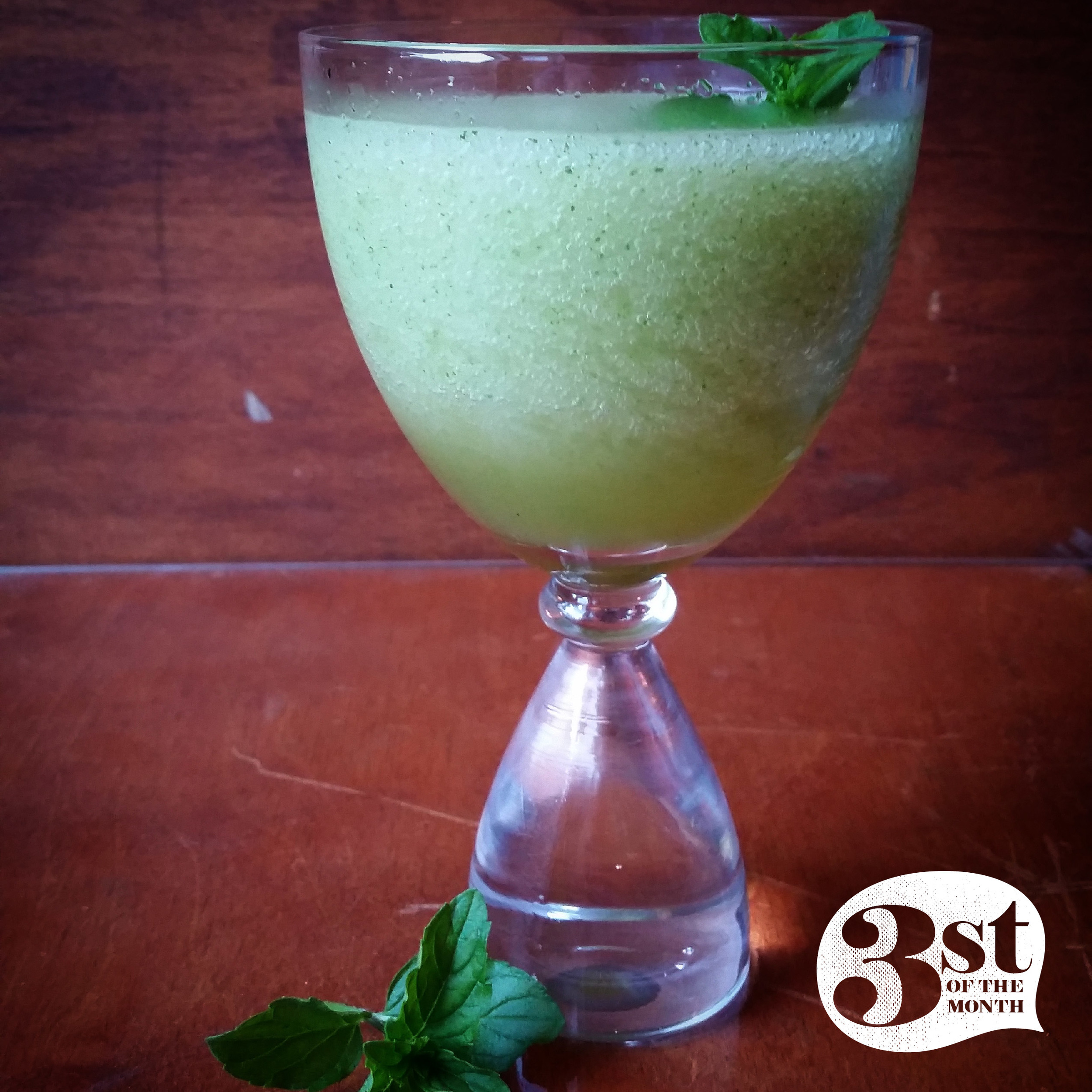 3st of the Month presents: The Bourbon Limonana - a mint-lemon-bourbon slushy