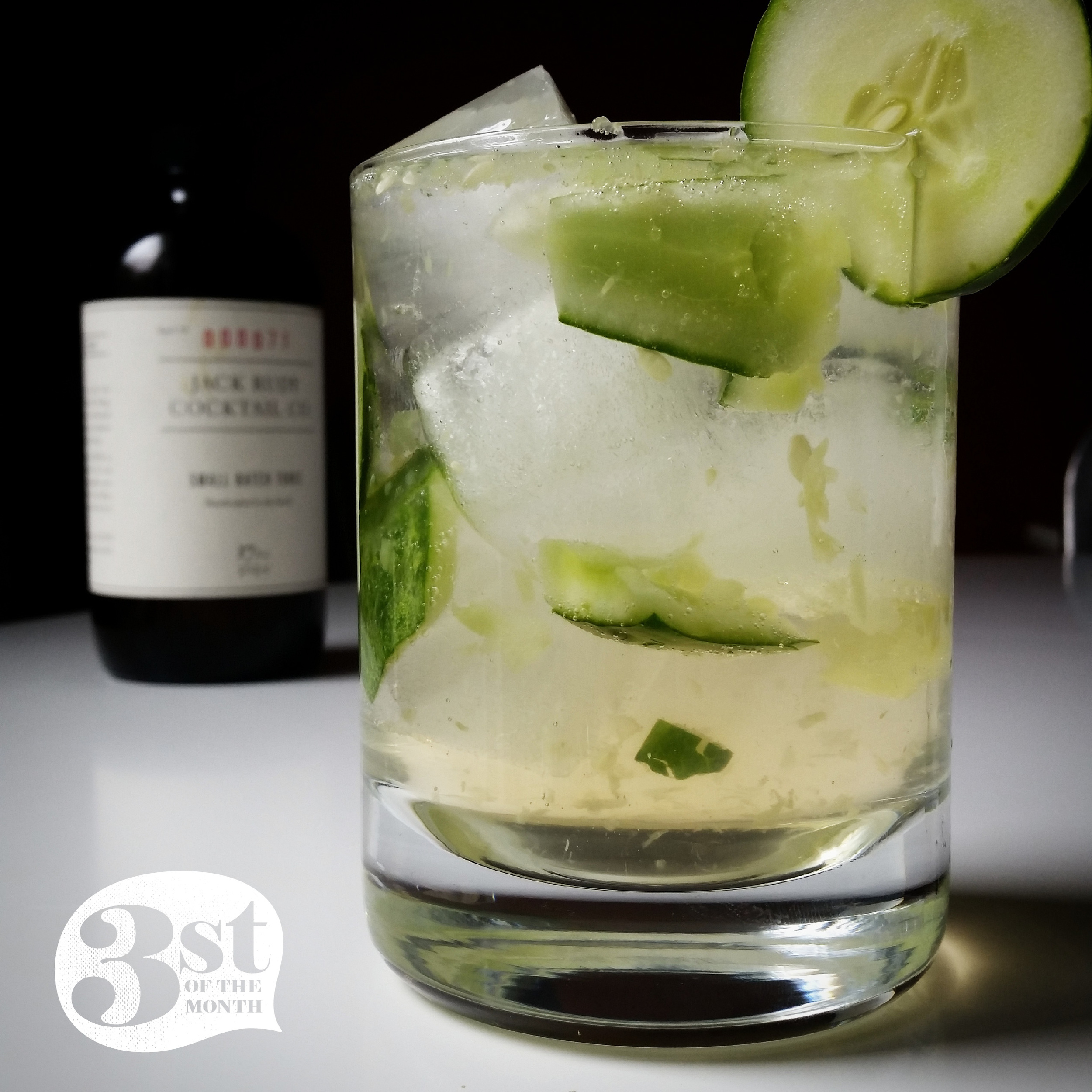 Deliciously-simple Cucumber Tonic cocktail from 3st of the Month