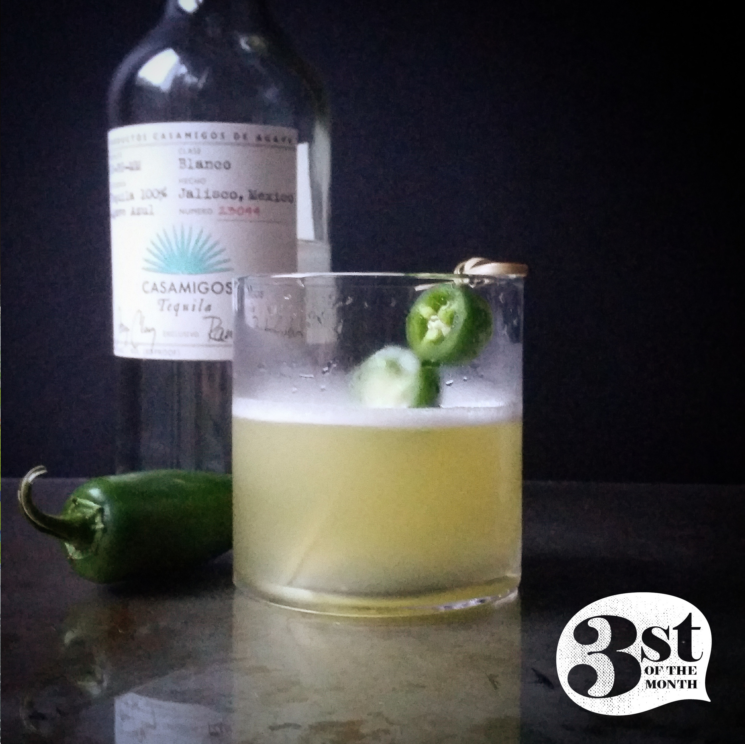 Fresh jalapeño, pineapple juice and tequila - from 3st of the Month