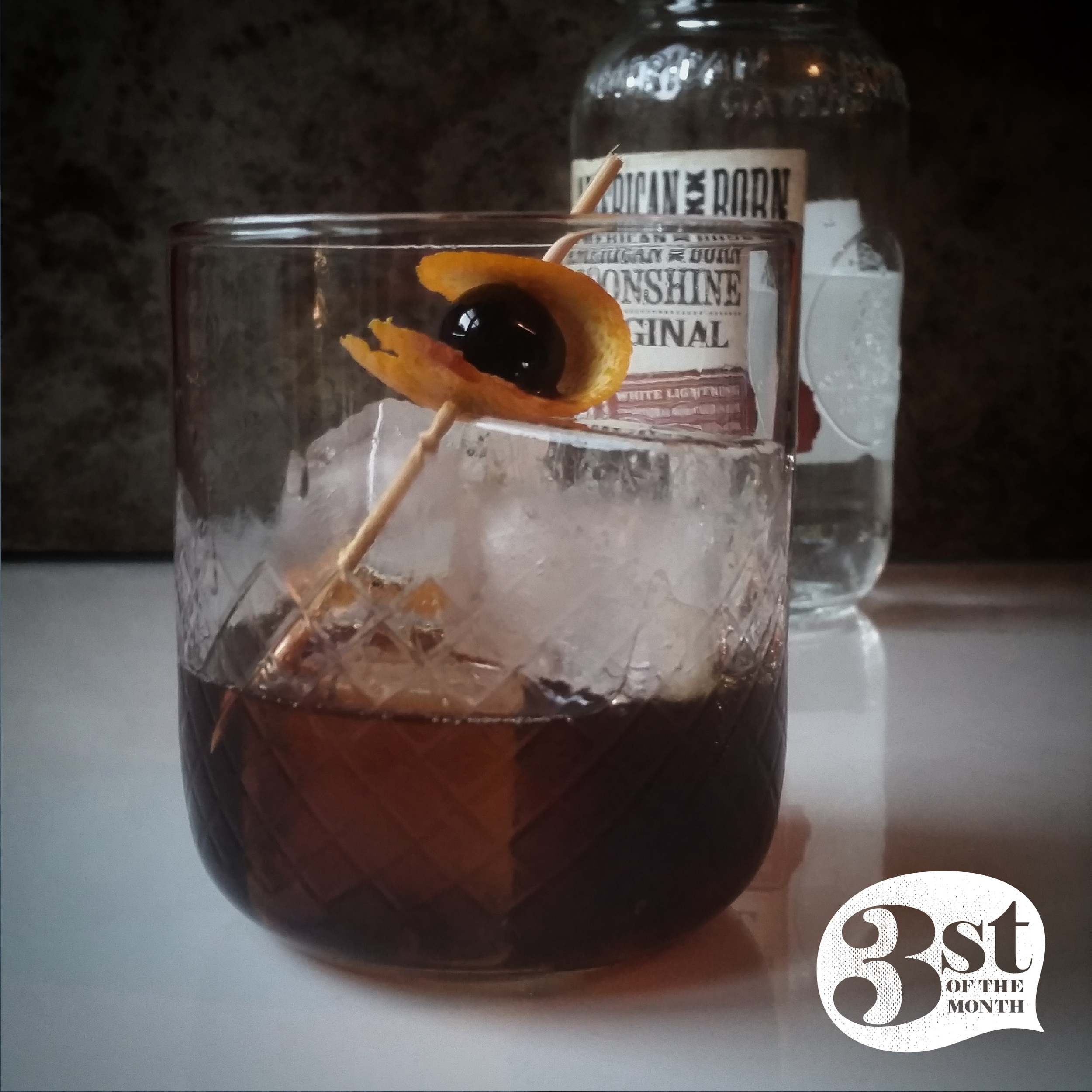 Man on the Moon: a moonshine cocktail from 3st of the Month