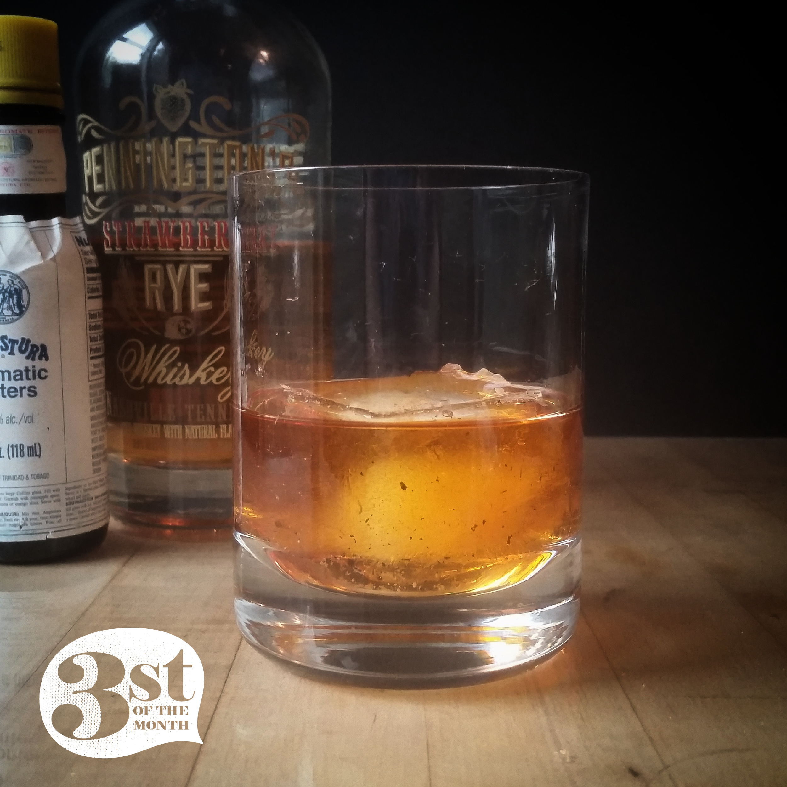 Pennington's Re-Fashioned cocktail made with Pennington's Strawberry Rye Whiskey
