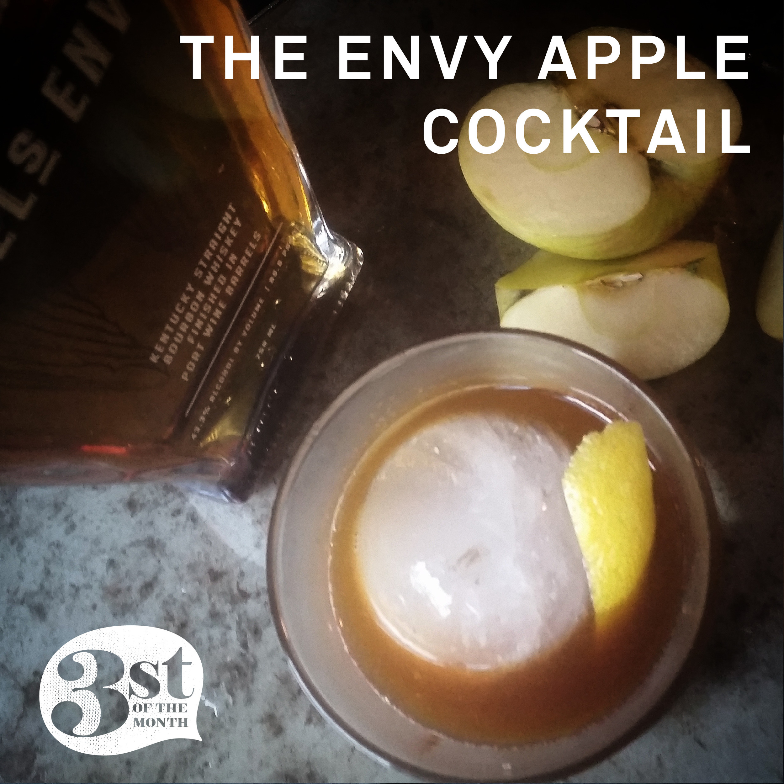 Made with homemade apple syrup, the Envy Apple Cocktail is a delicious end of summer cocktail!