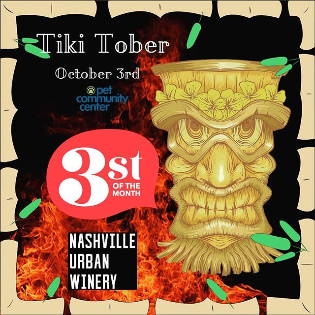 3st is back with the final installment of the year!  Tiki-Tober will take you to an island paradise right in the middle of Nashville. The event will be at Nashville Urban Winery, Thursday, October 3rd, 2019 from 6:30pm - 9:30pm. Proceeds benefit Nashville Pet Community Center. We look forward to sharing this great night with you.