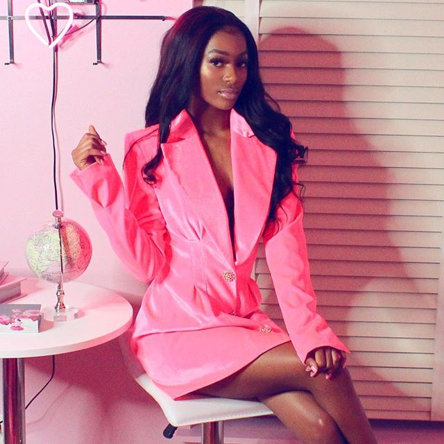 Our gorgeous Kylie Pink Velvet Blazer is on sale for a limited time 💕 | Shop immecollection.com