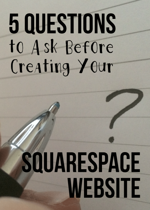 5 questions about squarespace