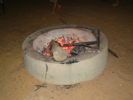 communal fire pit for campers at Murchison House Station