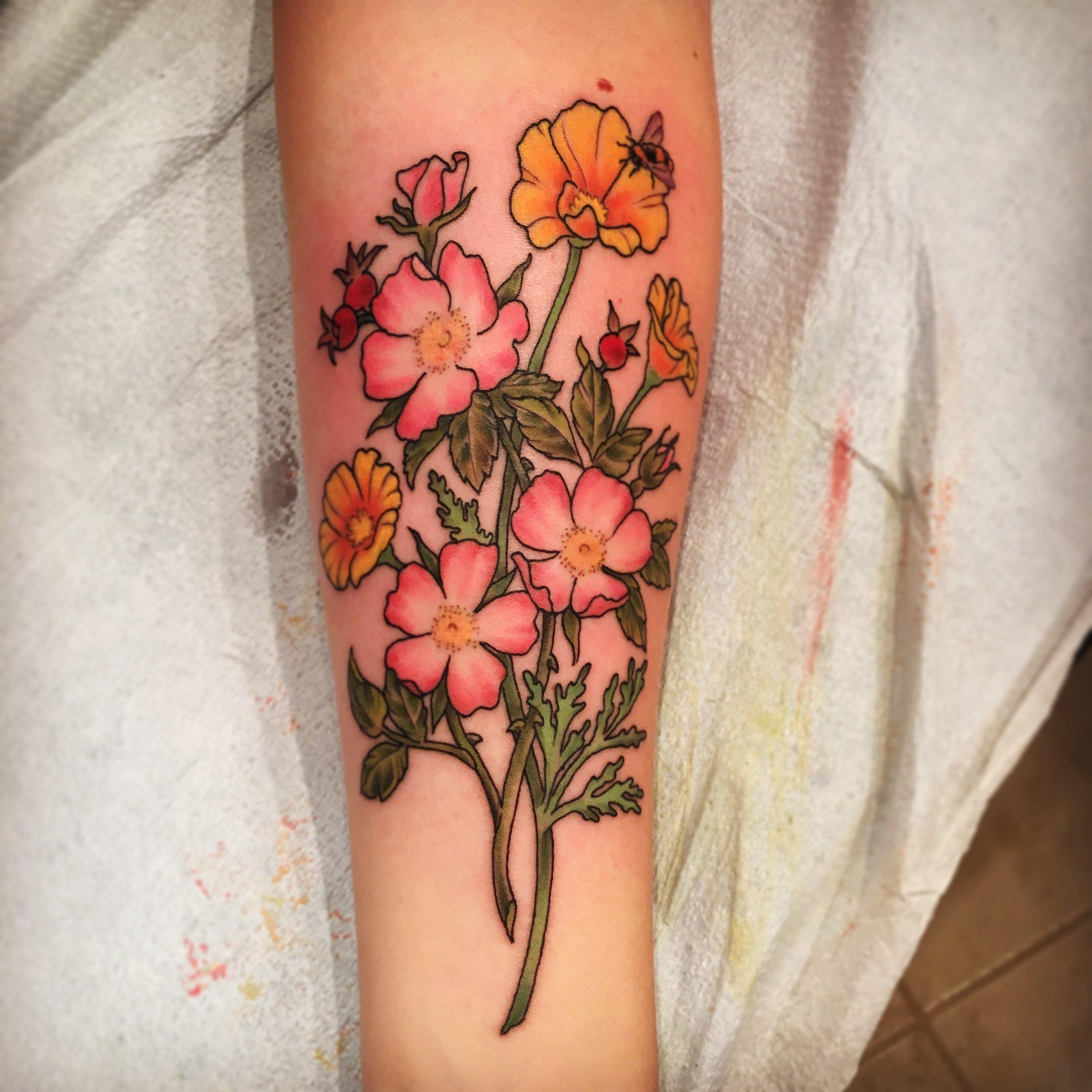 Botanical Style Flowers